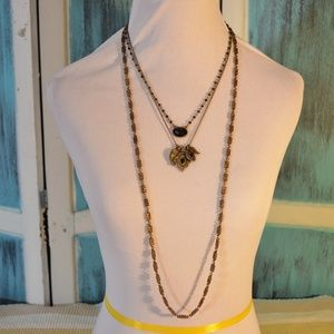 Necklace w 3 Removable Strands